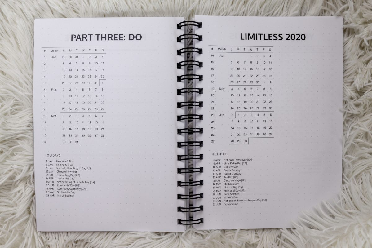 Limitless Planner 2020 Yearly Spread | Your sidekick to life! The only planner, agenda and notebook you'll need to be fulfilled and productive!
