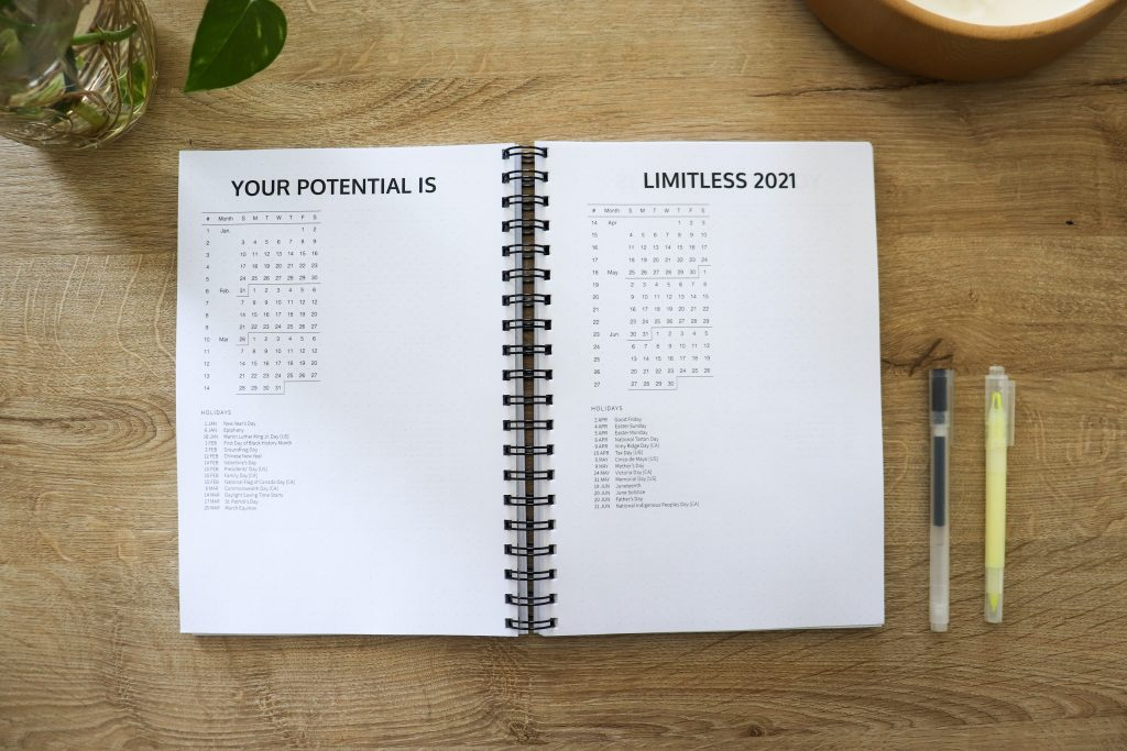 Limitless Planner 2021 Academic - Year-At-A-Glance | Your sidekick to life! The only planner, agenda and notebook you'll need to be fulfilled and productive!